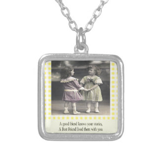 A Friend Knows Your Stories Silver Plated Necklace