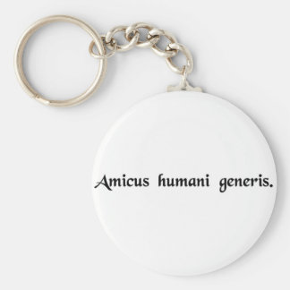 A friend of the human race key chains