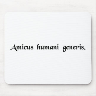 A friend of the human race mouse pad