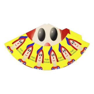 A friendly clown party hat