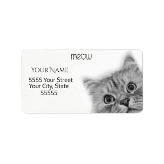 A Friendly Meow Address Labels