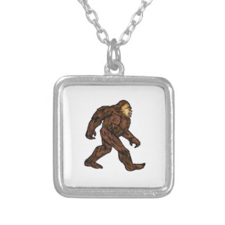 A Friendly Strut Silver Plated Necklace