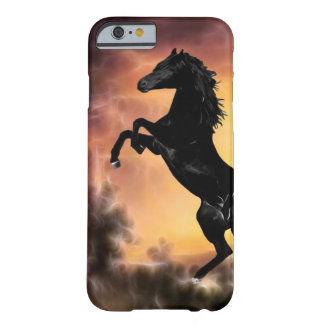 A Friesian Stallion horse rearing Barely There iPhone 6 Case