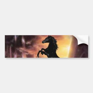 A Friesian Stallion horse rearing Bumper Sticker