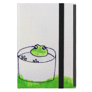 A frog and the full moon iPad mini case