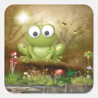 A Frog sLife Square Sticker