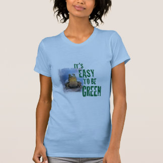 A frog with a green message. T-shirts etc.