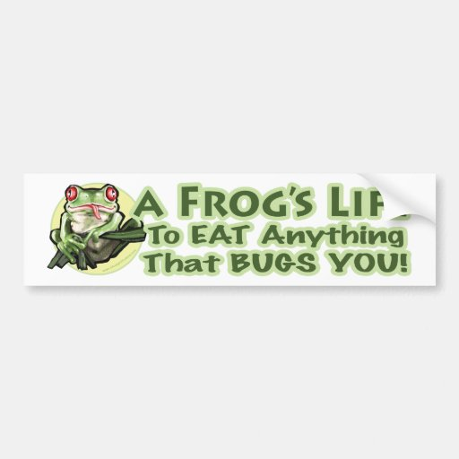 A Frog's Life - To eat anything that bugs you. Bum Bumper Stickers