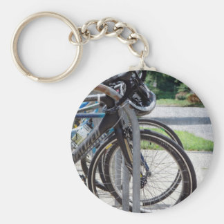 A Full Bike Rack Key Ring