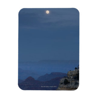 A full moon rises through a dusk sky at Hopi Rectangular Photo Magnet