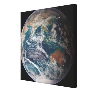 A full view of Earth showing global data Canvas Print