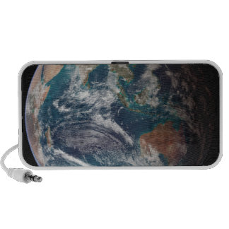 A full view of Earth showing global data Travel Speaker