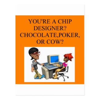 a funny geek joke postcard