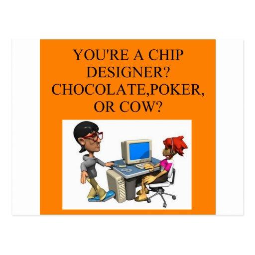a funny geek joke postcards
