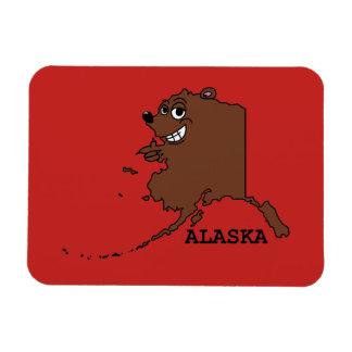 A funny map of Alaska Magnet