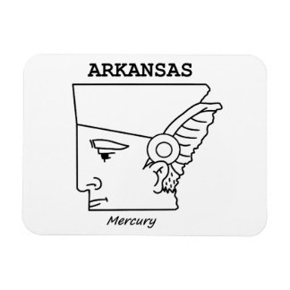 A funny map of Arkansas Magnet