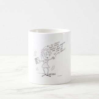 A funny stress cartoon for women coffee mug