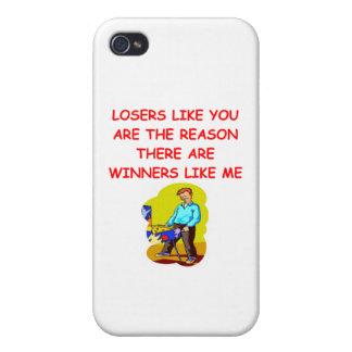 a funny winners and losers joke iPhone 4/4S cases