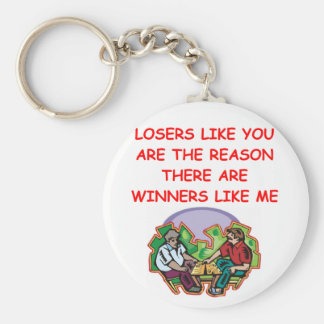 a funny winners and losers joke keychains