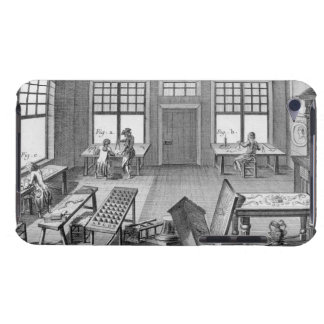 A furniture inlayer's workshop, from the 'Encyclop Barely There iPod Cover