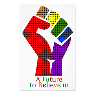 A Future to Believe in LGBT Stationery Paper