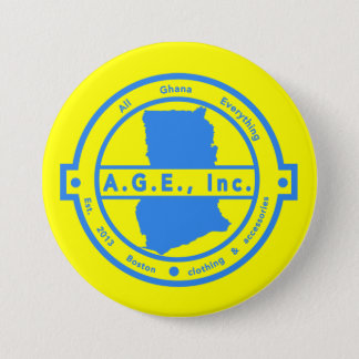 A.G.E., Inc. Blue Logo Button