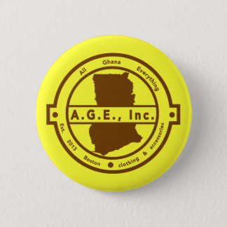 A.G.E., Inc. brown Logo Button