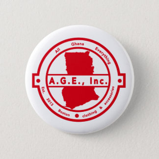 A.G.E., Inc. Red Logo Button