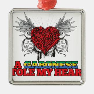 A Gabonese Stole my Heart Christmas Tree Ornaments