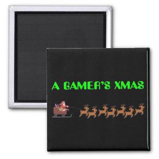 A Gamer's Xmas Square Magnet