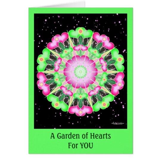 A Garden of Hearts Card