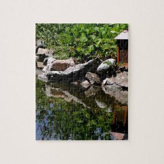 A Garden Pond in Summer Jigsaw Puzzle