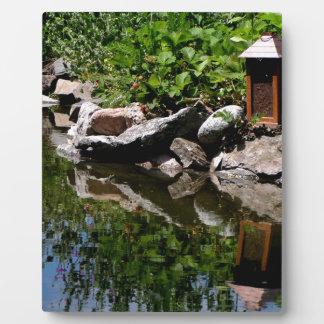 A Garden Pond in Summer Plaque