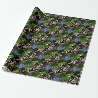 A Garden Pond in Summer Wrapping Paper