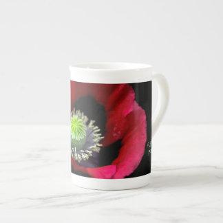A Garden Poppy Bone China Mug