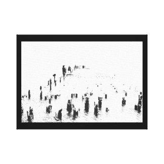 A Gathering - Canvas Wall Art - Black White