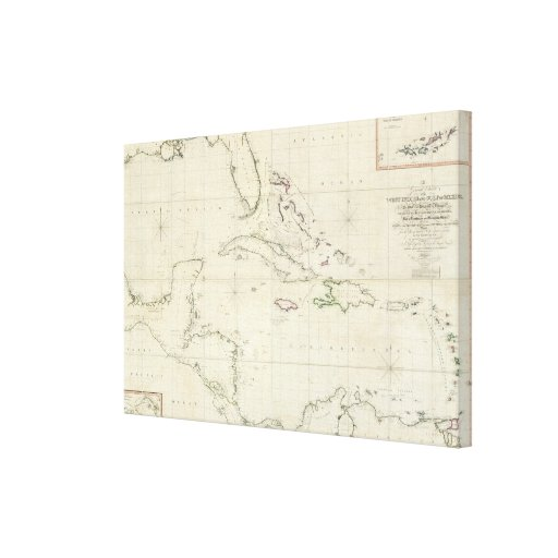 A General Chart of the West Indies Gallery Wrapped Canvas