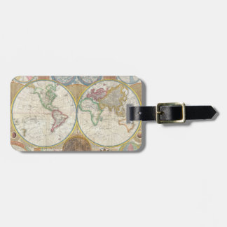 A General Map of the World by Samuel Dunn 1794 Luggage Tag