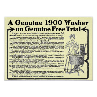 A Genuine 1900 Washer Poster