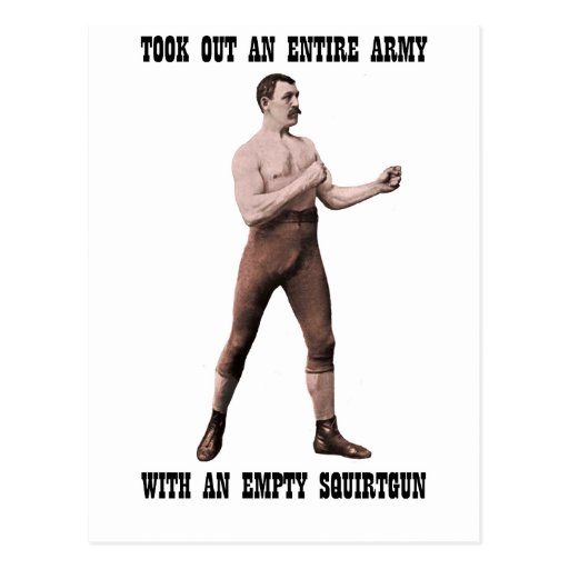 A Genuine Overly Manly Man Postcard