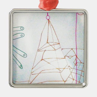 A Geometers Glass Bead Game Silver-Colored Square Decoration