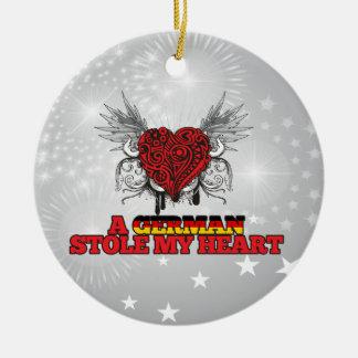 A German Stole my Heart Christmas Tree Ornaments