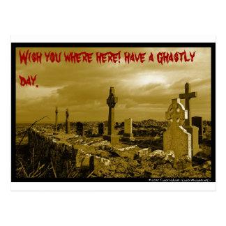 A Ghastly wish! Postcard