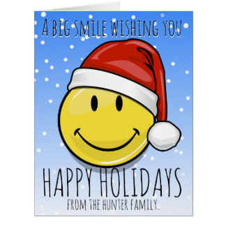 A Giant Smile For the Holidays Custom Card