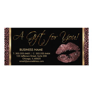 A Gift Certificate Dark Rose Lipstick Business 3