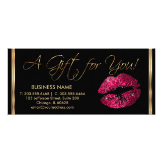 A Gift Certificate Hot Pink Lipstick Business