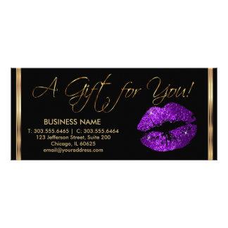 A Gift Certificate Purple Lipstick Business 2 Rack Cards
