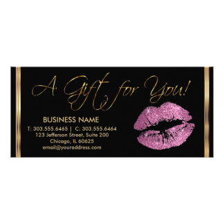 A Gift Certificate So Pink Lipstick Business 2 Rack Cards