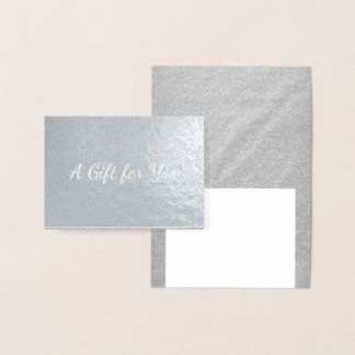 A Gift for You - Silver Foil Card