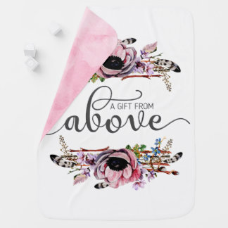 A Gift From Above | Boho Chic Floral Baby Girl Baby Blanket